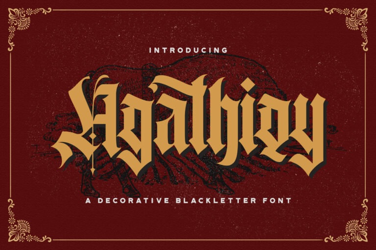 Preview image of Agathiqy – Blackletter Font