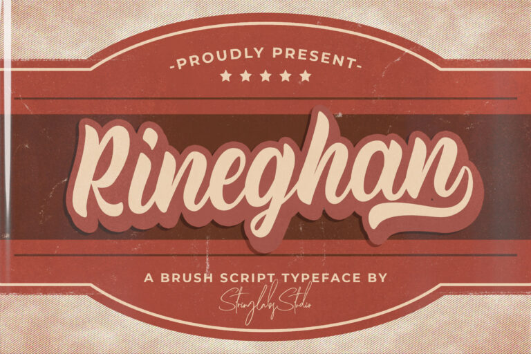 Preview image of Rineghan – Bold Script Font