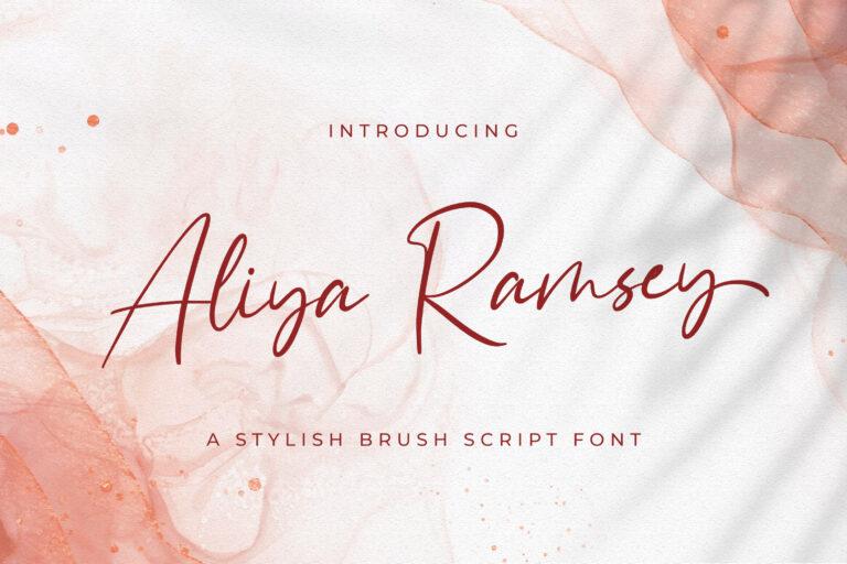 Preview image of Aliya Ramsey – Handwritten Font