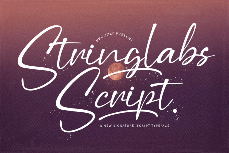 Preview image of Stringlabs Script – Handwritten Font