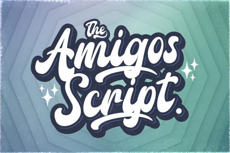 Preview image of Amigos Script – Retro Bold Script Font