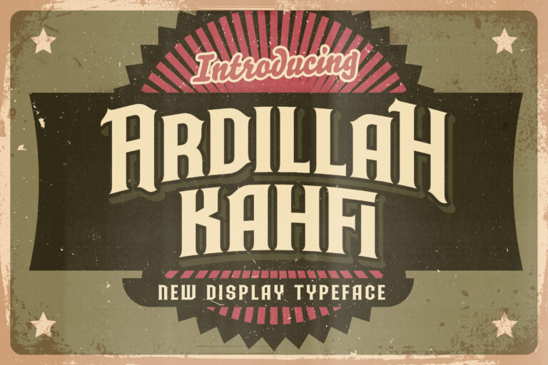 Preview image of Ardilah Kafi – Victorian Style Font