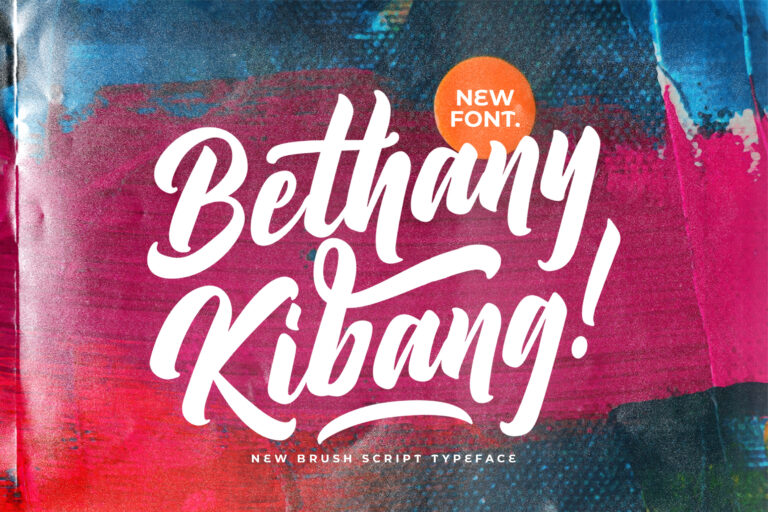 Preview image of Bethany Kibang – Bold Script Font