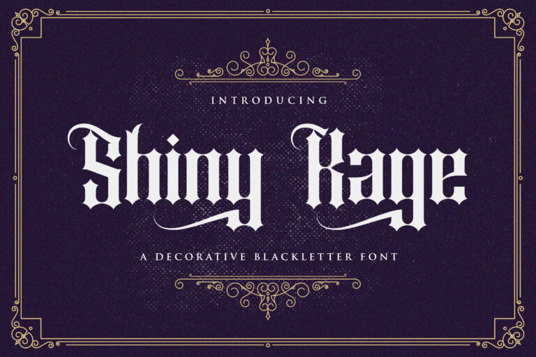 Preview image of Shiny Kage – Blackletter Font