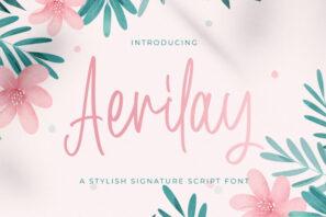 Aerilay - Handwritten Font