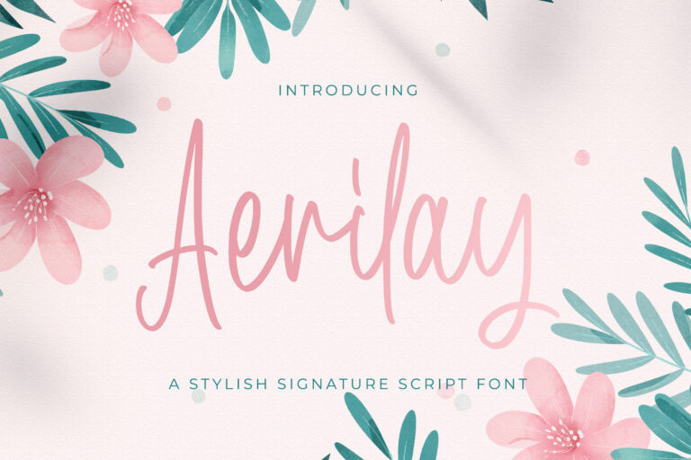 Preview image of Aerilay – Handwritten Font