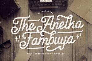 Anelka Fambuya - Monoline Retro Font