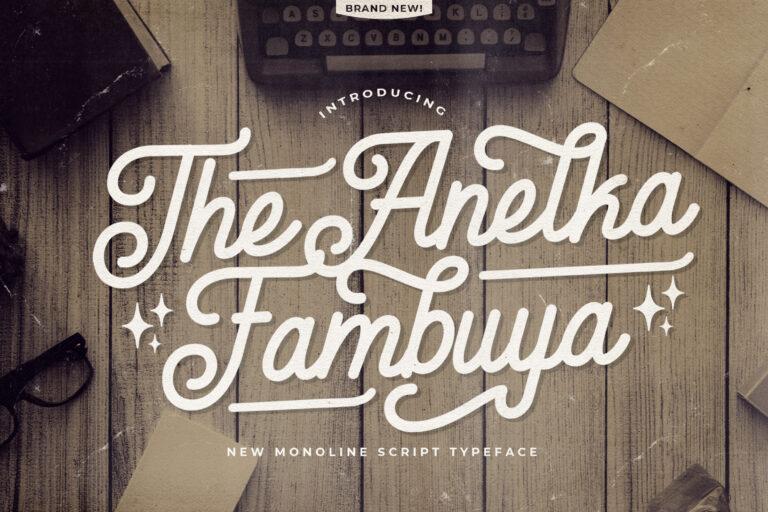 Preview image of Anelka Fambuya – Monoline Retro Font