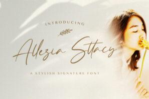 Allezia Sttacy - Handwritten Font