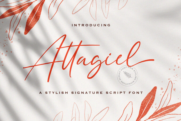 Preview image of Attagiel – Handwritten Font