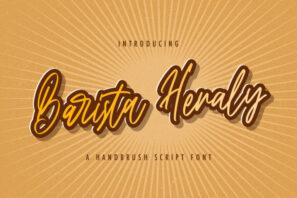 Barista Heraly - Handwritten Font