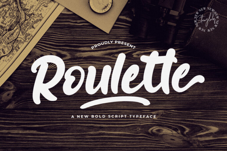 Preview image of Roulette – Bold Script Font