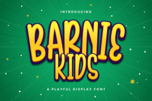 Barnie Kids - Playful Display Font