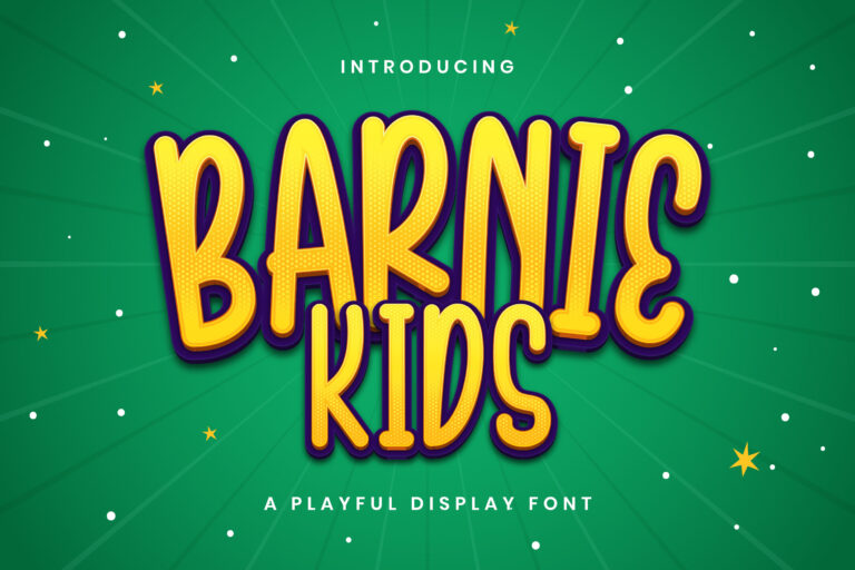 Preview image of Barnie Kids – Playful Display Font