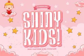 Shiny Kids - Playful Display Font