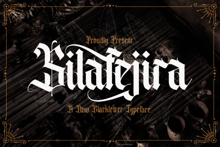 Preview image of Silafejira – Blackletter Font