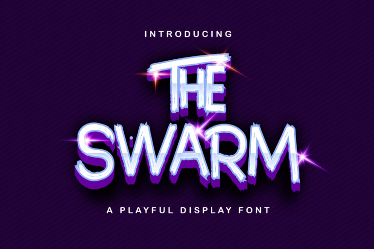 Preview image of The Swarm – Playful Display Font