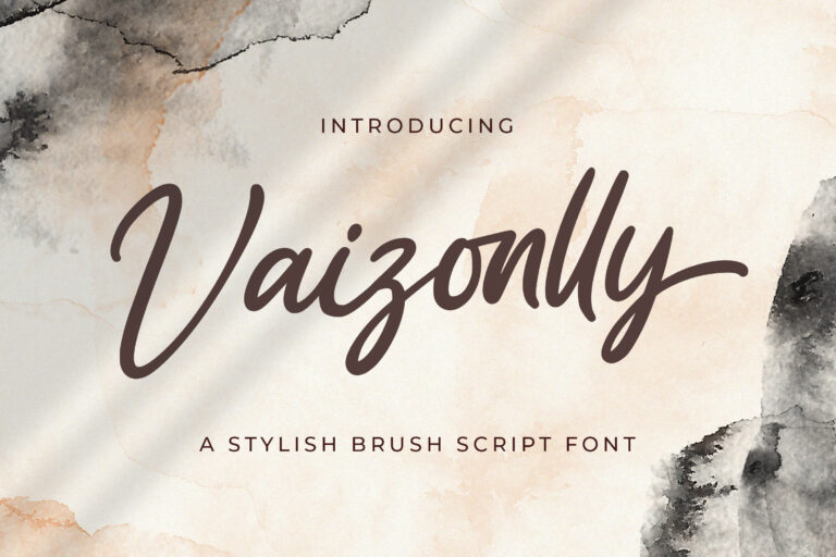 Preview image of Vaizonlly – Bold Script Font