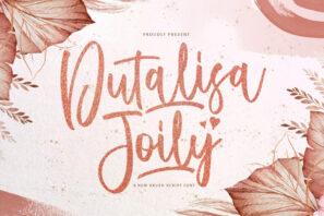 Dutalisa Joily - Handwritten Font