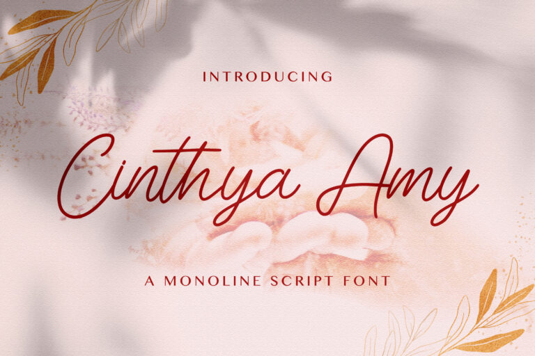 Preview image of Cinthya Amy – Handwritten Font