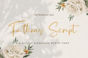 Fathony Script - Handwritten Font