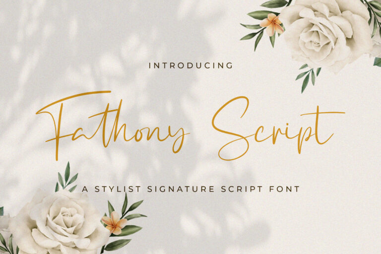 Preview image of Fathony Script – Handwritten Font