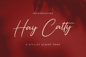 Hay Catty - Handwritten Font