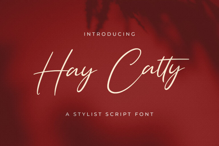 Preview image of Hay Catty – Handwritten Font