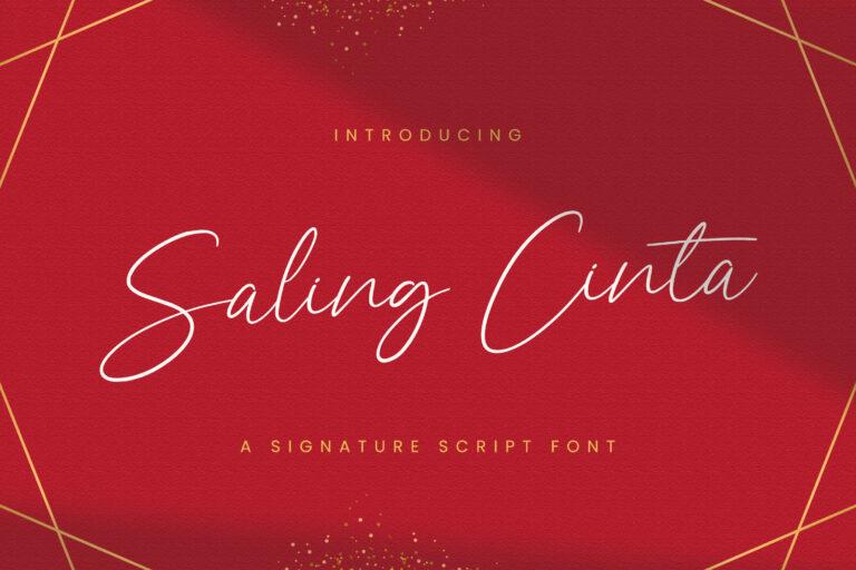 Preview image of Saling Cinta – Handwritten Font