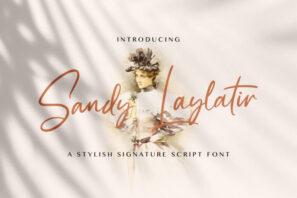 Sandy Lailyatir - Handwritten Font