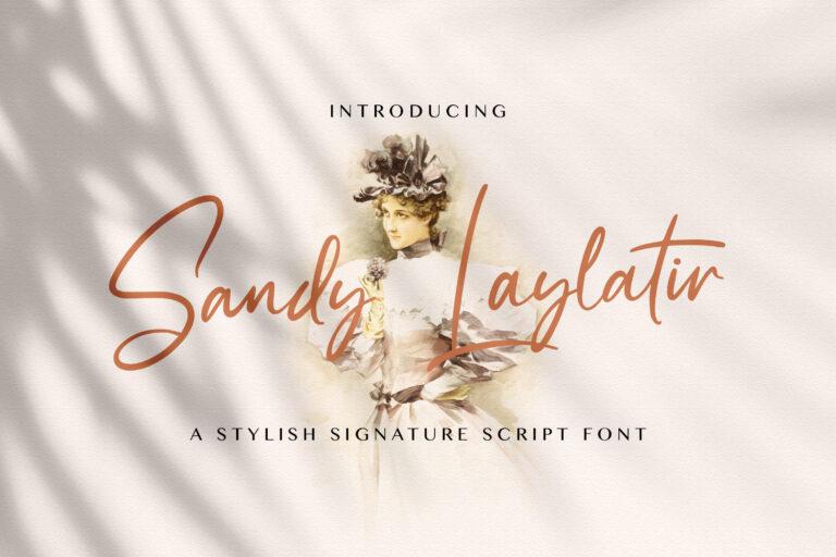 Preview image of Sandy Lailyatir – Handwritten Font