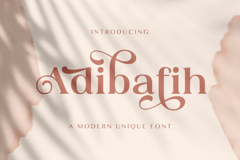 Preview image of Adibafih – Casual Serif Font