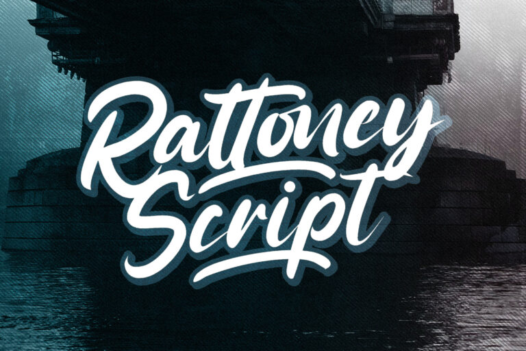 Preview image of Rattoney – Bold Script Font