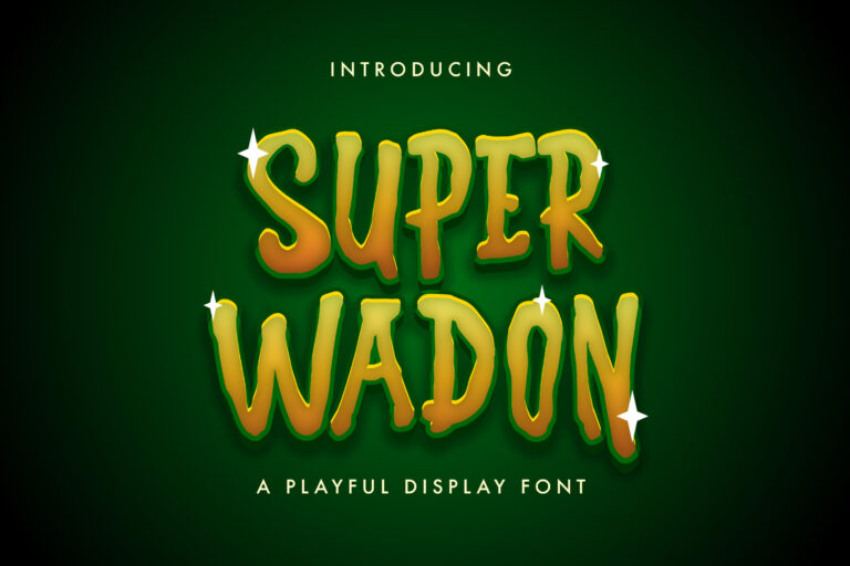 Preview image of Super Wadon – Haunted Display Font