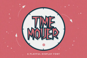 Time Mover - Playful Display Font