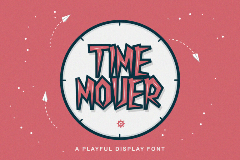Preview image of Time Mover – Playful Display Font