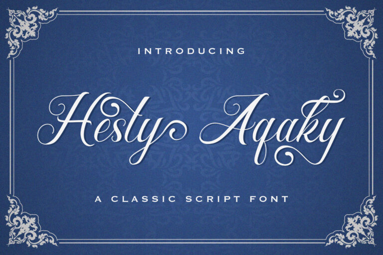 Preview image of Hesty Aqaky – Modern Script Font