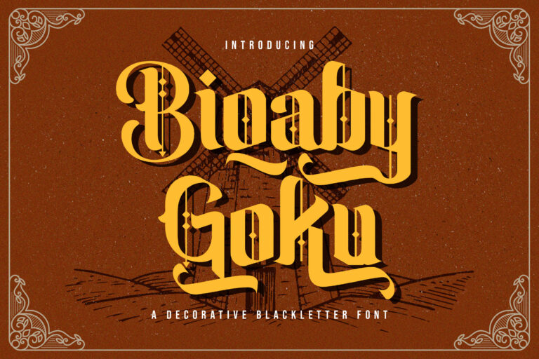 Preview image of Biqaby Goku – Blackletter Font