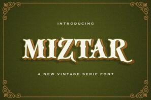Miztar - Victorian Style Font