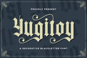 Yugitoy - Blackletter Font