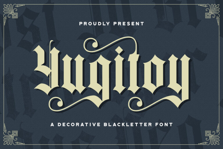 Preview image of Yugitoy – Blackletter Font