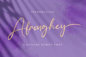 Afronghey - Handwritten Font