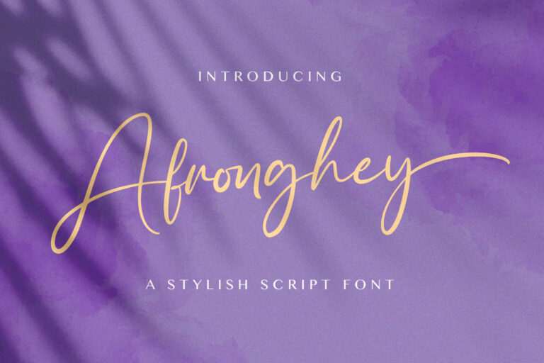 Preview image of Afronghey – Handwritten Font