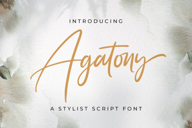 Preview image of Agatony – Handwritten Font