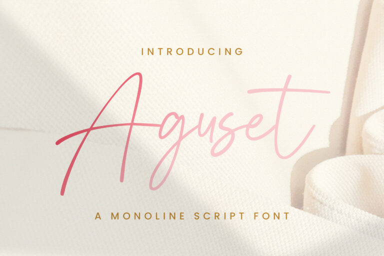 Preview image of Aguset – Handwritten Font