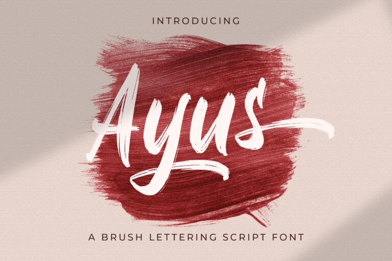 Preview image of Ayus – Handbrush Script Font
