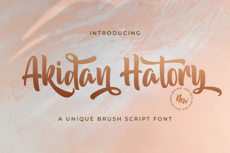 Preview image of Akidan Hatory – Bold Script Font