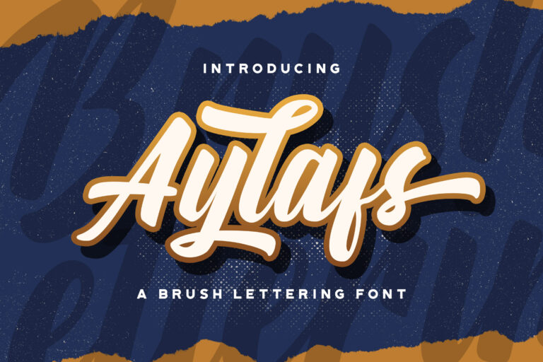 Preview image of Aylafs – Bold Script Font