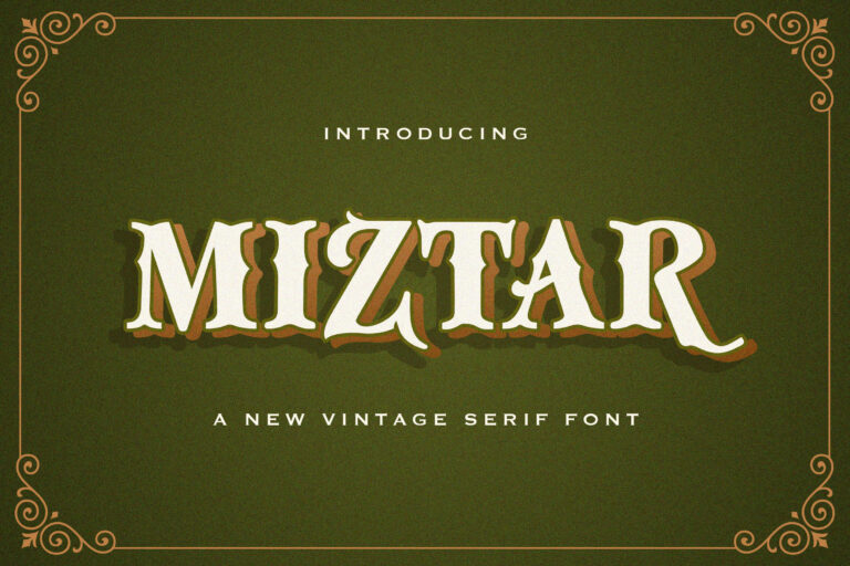 Preview image of Miztar – Victorian Style Font