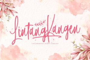 Lintang Kangen - Handwritten Font